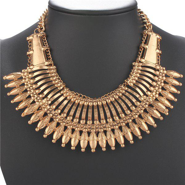 Punk Alloy Hollow Out Necklace - GOLDEN
