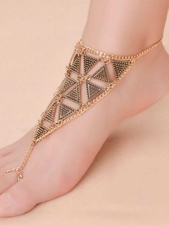 Vintage Alloy Triangle Anklet