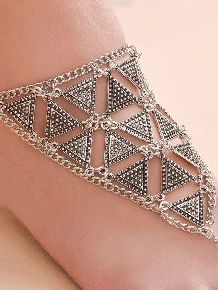 Vintage alliage Triangle Anklet - SILVER