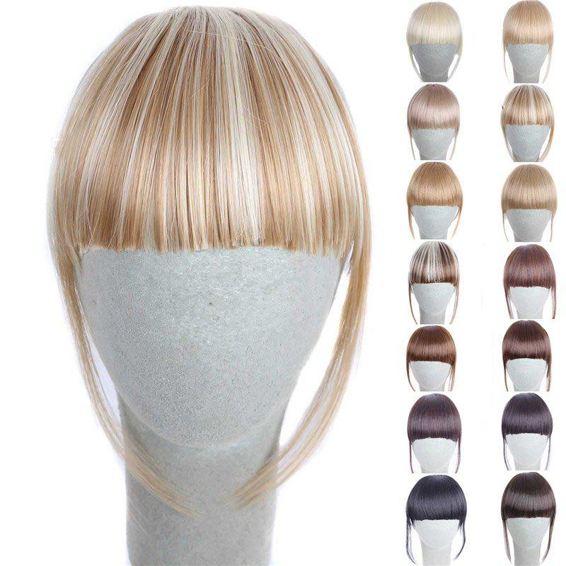 Fashion 14 Colors Clip In Synthetic Women's Front Full Bang With Sideburns - WHITE/GOLDEN