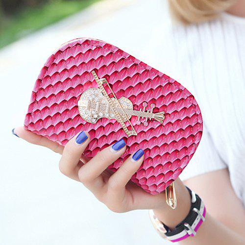 Fashion Embossing and Violin Pattern Design Women's Wallet - ROSE MADDER