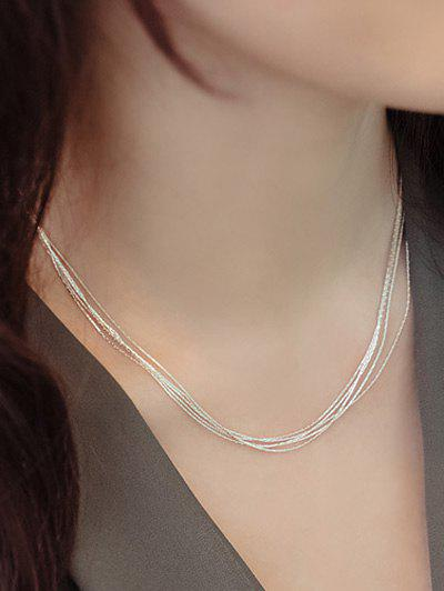 Layered Minimalist Design Necklace - SILVER