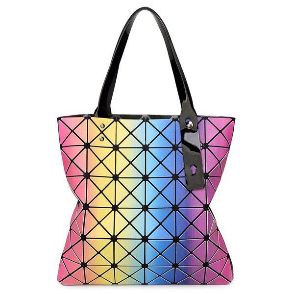 Trendy Geometric Pattern and Printed Design Women's Shoulder Bag - ROSE RED