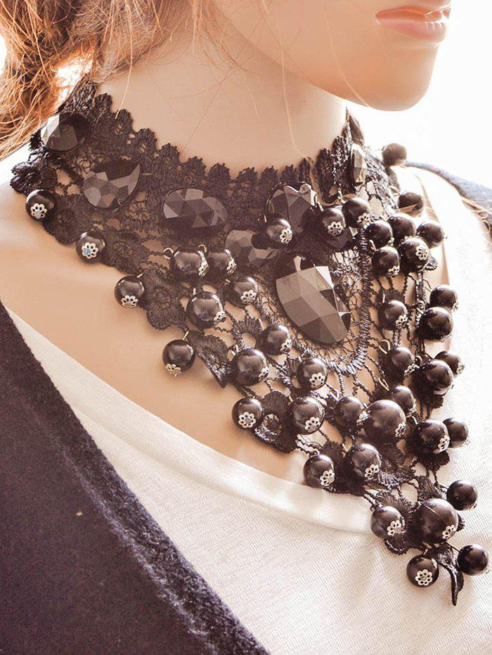Vintage Floral Beads Necklace