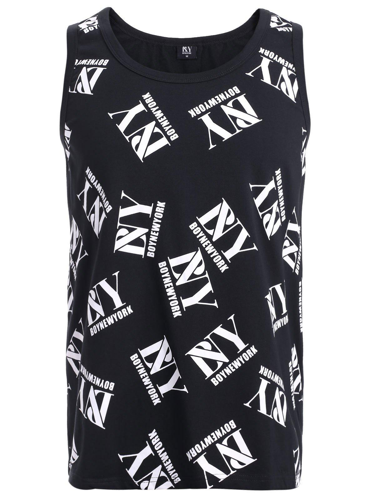 BoyNewYork Fashion Tank Top - XL BLACK