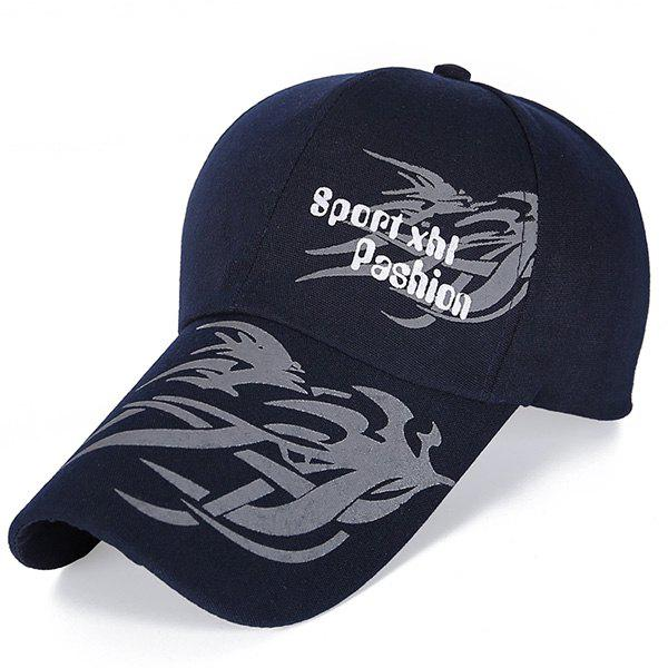 Stylish Handpainted Dragon Head Pattern Men's Baseball Hat - PURPLISH BLUE