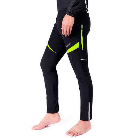 High Quality Knee Protective Windproof Motorcycle Riding Sport Pants - BLACK/GREEN M