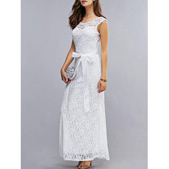 Attractive Women's Lace Open Back Maxi Dress