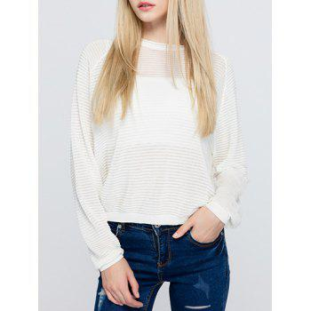 Casual Women's White Long Sleeves Sweater