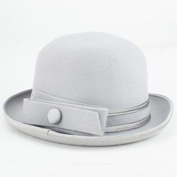Elegant Bowknot Embellished Flanging Felt Fedora Hat For Women