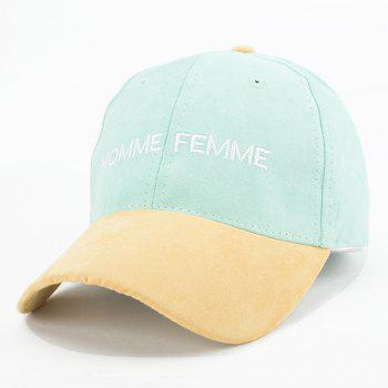 Stylish Faux Suede Letters Embroidery Retro Baseball Cap For Women