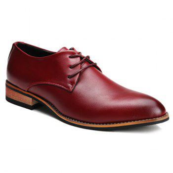 Trendy Pointed Toe and Tie Up Design Men's Formal Shoes
