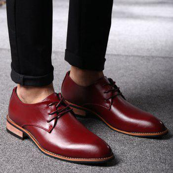 Trendy Pointed Toe and Tie Up Design Men's Formal Shoes - 42 42