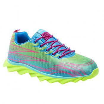 Buy Trendy Lace-Up Color Splicing Design Men's Athletic Shoes NEON GREEN