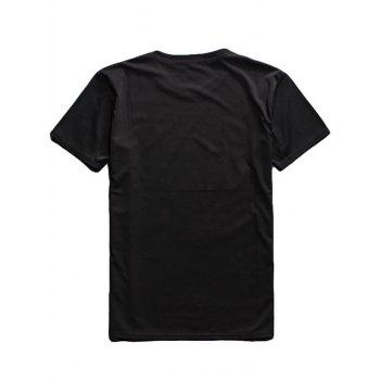 Cigarette 3D Print Round Neck Short Sleeve Men's T-Shirt - BLACK 2XL