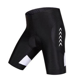 Simple Black Breathability Gel Pad Tight Cycling Shorts For Unisex