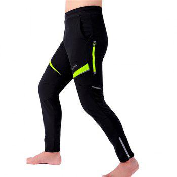 High Quality Knee Protective Windproof Motorcycle Riding Sport Pants - BLACK/GREEN L