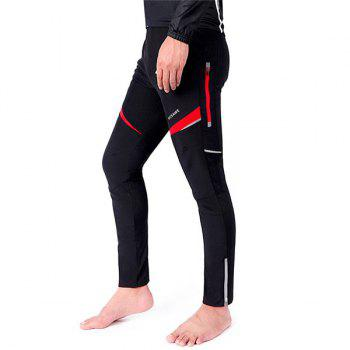 High Quality Knee Protective Windproof Motorcycle Riding Sport Pants - RED WITH BLACK XL