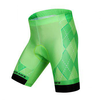 Chic Summer Breathability Silica Gel Green Cycling Shorts For Unisex - GREEN GREEN