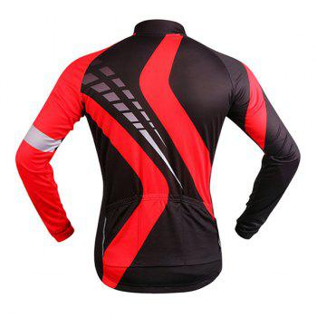 Perspiration Sport Long Sleeve Black with Red Cycling Jersey - RED/BLACK M