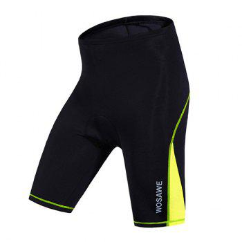 High Quality Women's Cycling Shorts with Silicone Cushion - BLACK AND GREEN XL