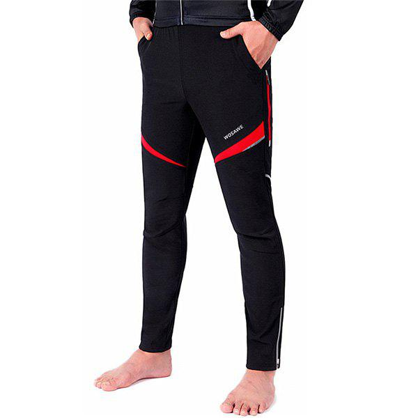High Quality Knee Protective Windproof Motorcycle Riding Sport Pants - RED/BLACK M