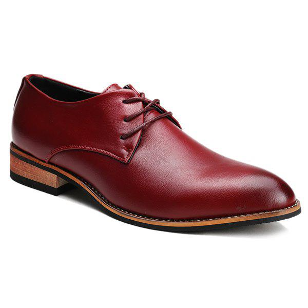 Bout pointu Trendy et chaussures formelles Tie Up Design Men  's - Rouge vineux 43
