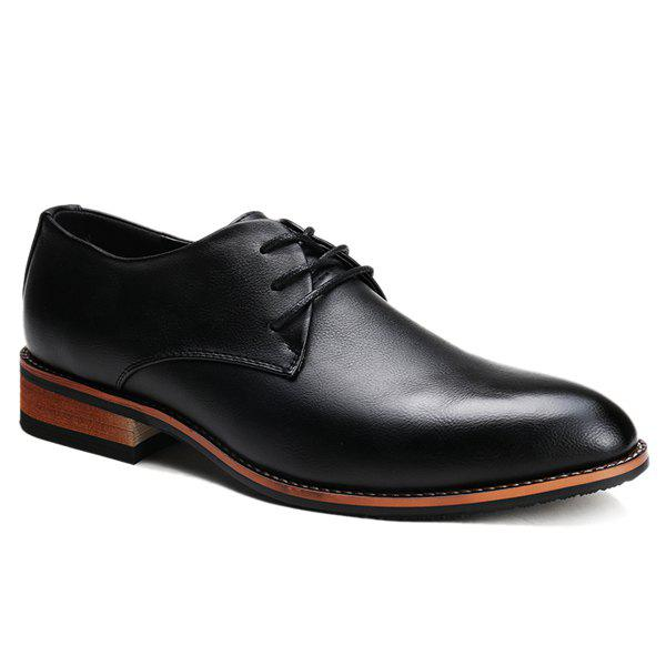 Trendy Pointed Toe and Tie Up Design Men's Formal Shoes - BLACK 41