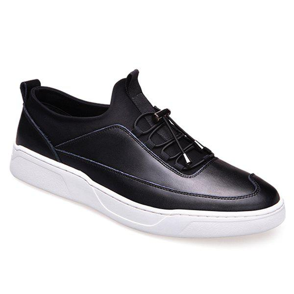 Simple PU Leather and Splicing Design Men's Casual Shoes - BLACK 43