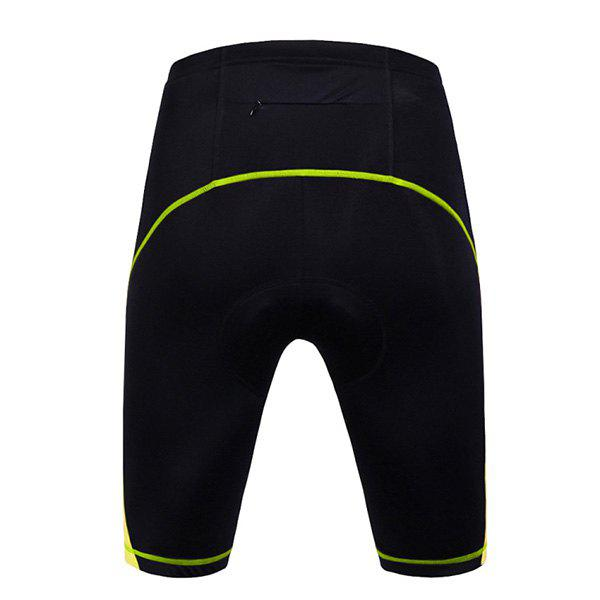 High Quality Women's Cycling Shorts with Silicone Cushion - BLACK/GREEN XL