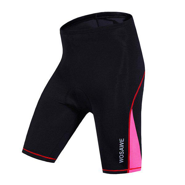 High Quality Women's Cycling Shorts with Silicone Cushion - RED/BLACK L