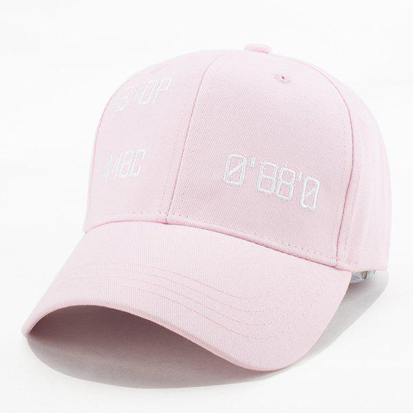 Fashion STOP Letters Embroidery Summer Baseball Cap For Women - LIGHT PINK