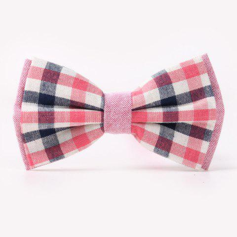 Stylish Tartan Pattern Banquet Wedding Party Double-Deck Bow Tie - RED