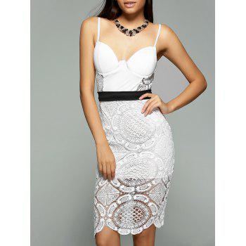 Alluring Spaghetti Strap Lacework Sheath Lace Dress