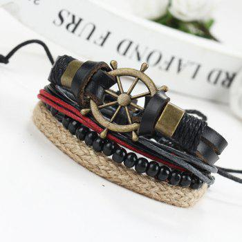 Vintage Beads Rudder Wrap Bracelets - BLACK