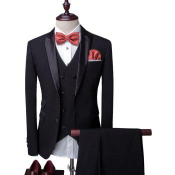 Long Sleeve Lapel Single Breasted Men's Three-Piece Suit ( Blazer + Waistcoat + Pants )