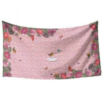 Fresh Style Vivid Bird and Flower Pattern Women's Scarf