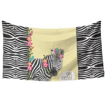 Fresh Style Vivid Creative Zebra and Stripe Pattern Women's Rectangle Scarf