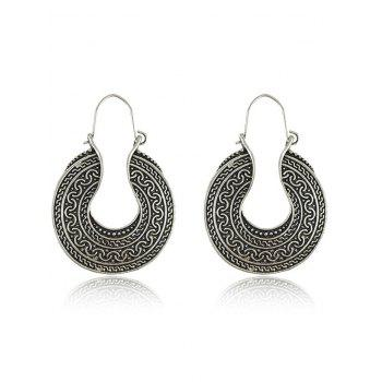 Engraved Drop Earrings