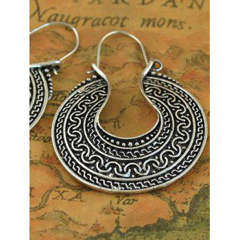Engraved Drop Earrings - SILVER