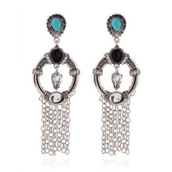 Vintage Rhinestone Fringe Drop Earrings
