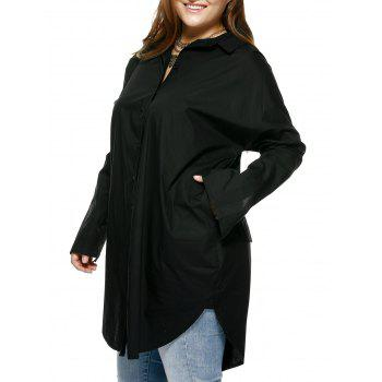 Four Pockets Curved Boyfriend Shirt