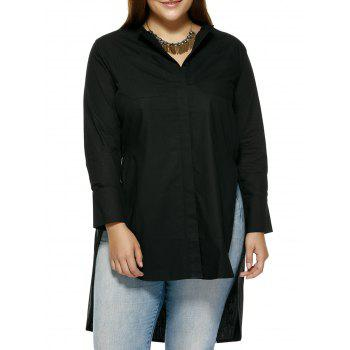 Plus Size High Low Hem Shirt