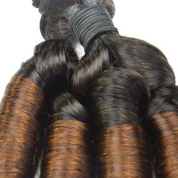 Boutique 1 Pcs Mixed Color 7A Virgin Aunty Funmi Women's Brazilian Hair Weave - 12INCH 12INCH