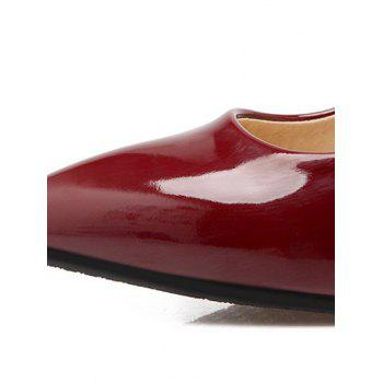 Graceful Metal and Rhinestones Design Women's Pumps - WINE RED 39