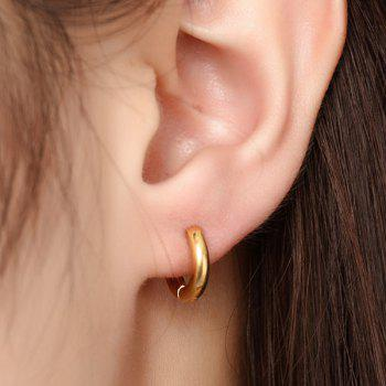 Pair of Gold Plated Micro Hoop Earrings