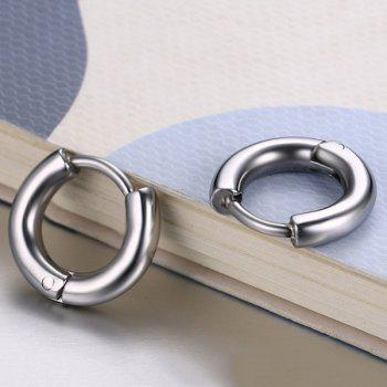 Pair of Small Silver Plated Hoop Earrings - SILVER