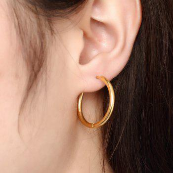 Pair of Gold Plated Polished Big Hoop Earrings