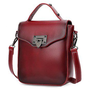 Stylish Metal and PU Leather Design Women's Shoulder Bag