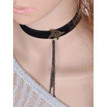 Punk Style Butterfly Chains Choker